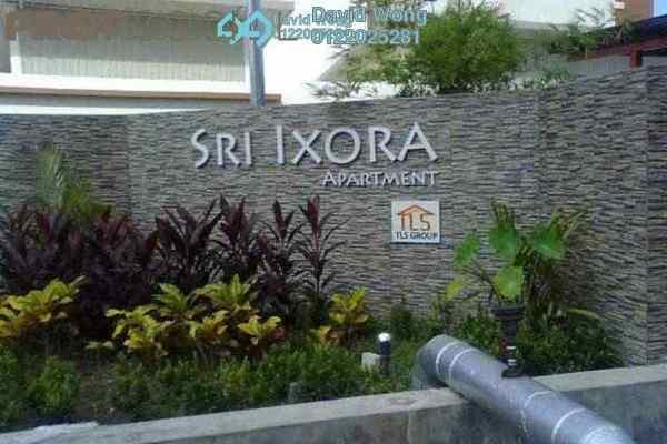For Rent Apartment at Sri Ixora Apartment, Kajang Freehold Semi Furnished 3R/2B 1.25k