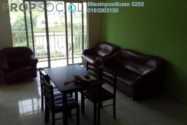 For Rent Condominium at Platinum Hill PV3, Setapak Freehold Semi Furnished 4R/2B 1.6k