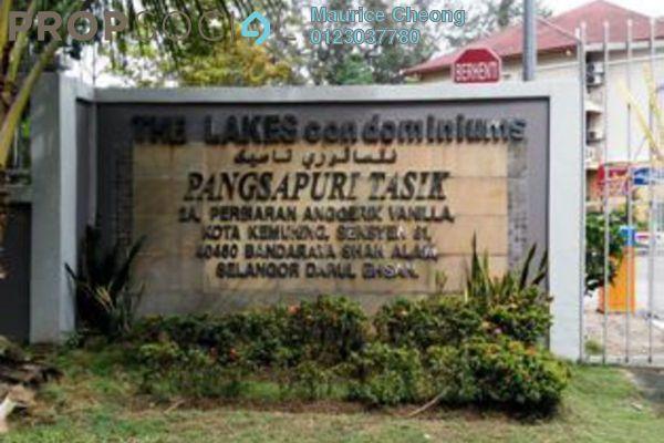 For Sale Condominium at The Lakes Condominiums, Kota Kemuning Freehold Fully Furnished 3R/2B 575k