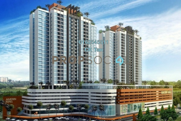 For Rent Condominium at Amerin Mall & Residence, Balakong Leasehold Semi Furnished 3R/2B 2k