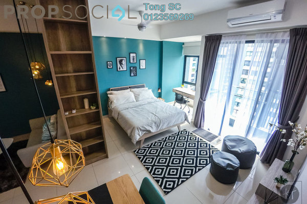 For Rent SoHo/Studio at Paramount Utropolis, Glenmarie Freehold Fully Furnished 1R/1B 1.7k
