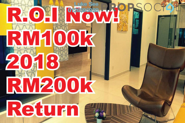 For Sale Serviced Residence at The Edge Residen, Subang Jaya Leasehold Semi Furnished 3R/2B 599k