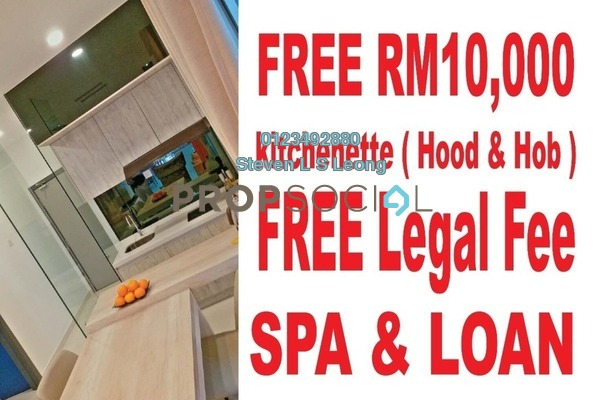 For Sale Serviced Residence at The Edge Residen, Subang Jaya Leasehold Semi Furnished 2R/2B 430k