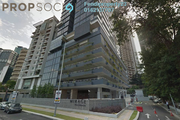 For Rent Condominium at Mirage Residence, KLCC Freehold Fully Furnished 0R/1B 3.3k