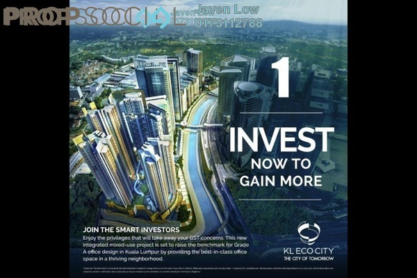 For Rent Condominium at KL Eco City, Mid Valley City Freehold Semi Furnished 2R/1B 2.5k