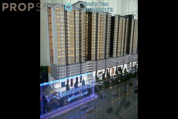 For Sale Condominium at V-Residensi 2, Shah Alam Freehold Semi Furnished 3R/3B 548k