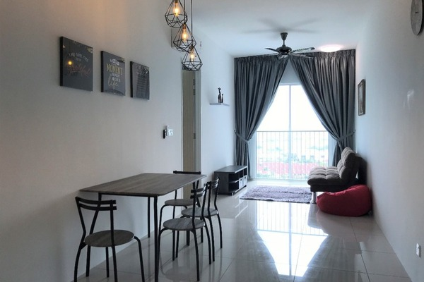 For Rent Condominium at The Clovers, Sungai Ara Freehold Fully Furnished 3R/2B 1.5k