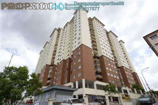 For Rent Condominium at Damai Mewah B Apartment, Kajang Freehold Unfurnished 3R/1B 800translationmissing:en.pricing.unit