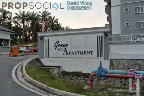 For Rent Apartment at Green Villa Apartment, Kajang Freehold Semi Furnished 3R/2B 1k