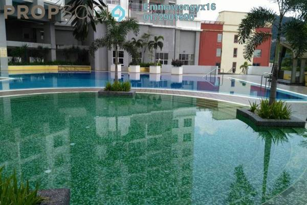 For Rent Condominium at Symphony Heights, Selayang Freehold Semi Furnished 3R/2B 1.2k