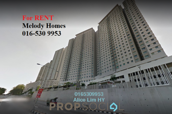 For Rent Condominium at Melody Homes, Farlim Freehold Unfurnished 3R/2B 850translationmissing:en.pricing.unit