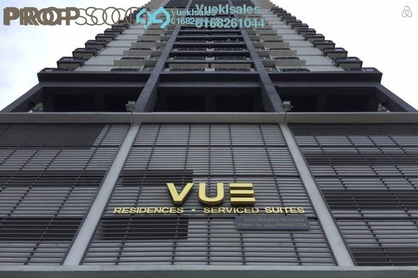 For Sale Serviced Residence at Vue Residences, Titiwangsa Freehold Fully Furnished 2R/1B 580k