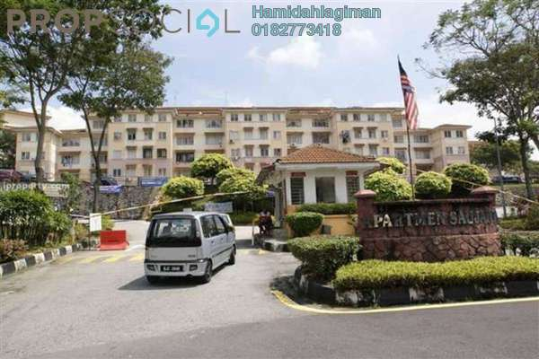 For Rent Apartment at Saujana Apartment, Damansara Damai Freehold Fully Furnished 3R/2B 1.2k