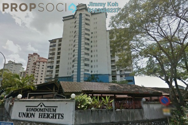 For Rent Condominium at Union Heights, Old Klang Road Freehold Semi Furnished 3R/2B 1.35k