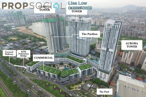 For Rent Condominium at EcoSky, Jalan Ipoh Freehold Semi Furnished 3R/2B 2.8k