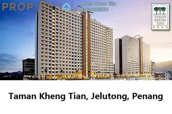 For Rent Condominium at Taman Kheng Tian, Jelutong Freehold Semi Furnished 3R/2B 1.2k