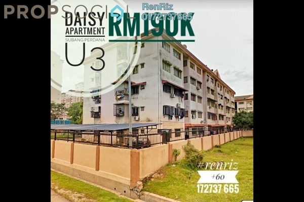 For Sale Apartment at Taman Subang Perdana, Subang Freehold Semi Furnished 3R/2B 190k
