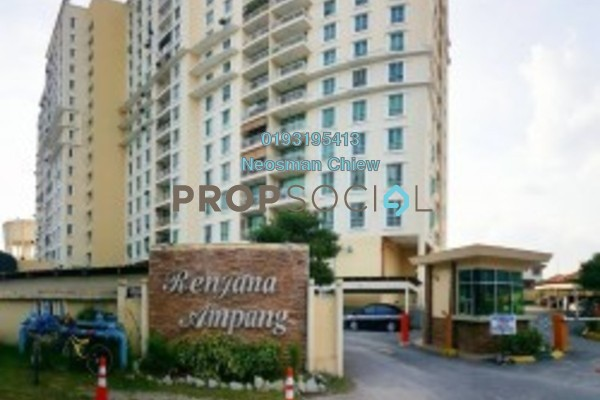 For Rent Condominium at Renjana Ampang, Ampang Freehold Unfurnished 3R/2B 1.1k