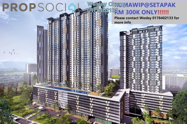 For Sale Condominium at Vista Langkawi @ PV18, Setapak Leasehold Unfurnished 3R/2B 300k