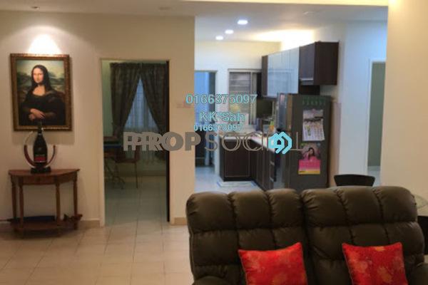 For Sale Condominium at Cahaya Villa, Seri Kembangan Freehold Fully Furnished 3R/2B 380k