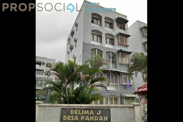 For Sale Apartment at Delima Apartment, Desa Pandan Freehold Semi Furnished 3R/2B 355k