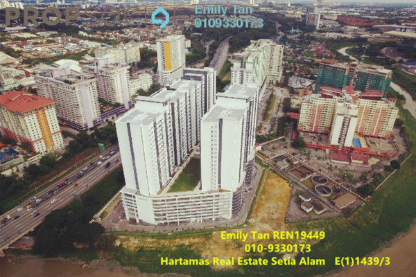 For Sale Condominium at V-Residensi 2, Shah Alam Freehold Semi Furnished 2R/2B 430k