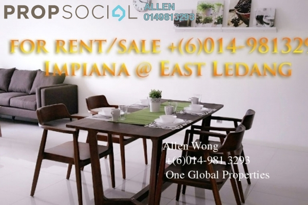 For Rent Condominium at Impiana Residences, Iskandar Puteri (Nusajaya) Freehold Fully Furnished 3R/3B 1.99k