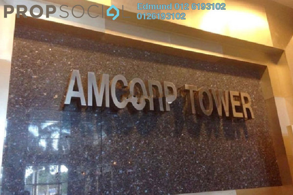For Rent Office at Amcorp Tower, Petaling Jaya Freehold Semi Furnished 0R/0B 6.6k