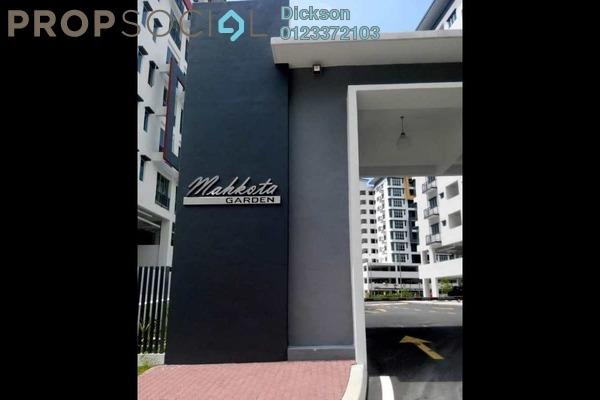 For Rent Condominium at Mahkota Garden Condominium, Bandar Mahkota Cheras Freehold Semi Furnished 3R/2B 1.2k