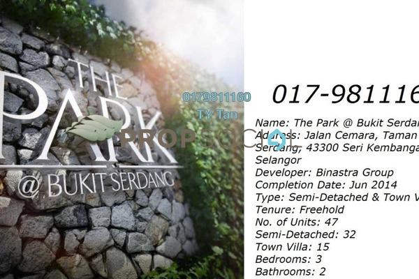 For Sale Townhouse at The Park, Seri Kembangan Freehold Unfurnished 2R/2B 738k