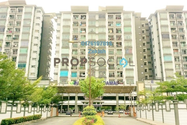 For Rent Apartment at Damai Apartment, Shah Alam Freehold Semi Furnished 3R/2B 1.3k