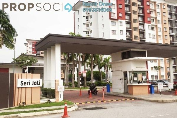 For Sale Apartment at Seri Jati Apartment, Setia Alam Freehold Semi Furnished 3R/2B 350k