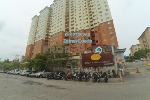 For Sale Apartment at Damai Mewah B Apartment, Kajang Freehold Semi Furnished 3R/2B 260k