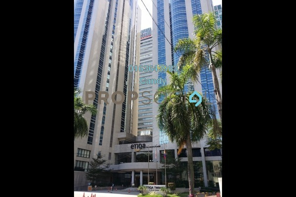 For Rent Office at Etiqa Twins, KLCC Freehold Unfurnished 0R/0B 54k