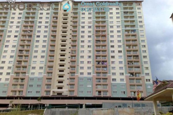For Sale Condominium at Lakeview Apartment, Batu Caves Freehold Semi Furnished 3R/2B 255k