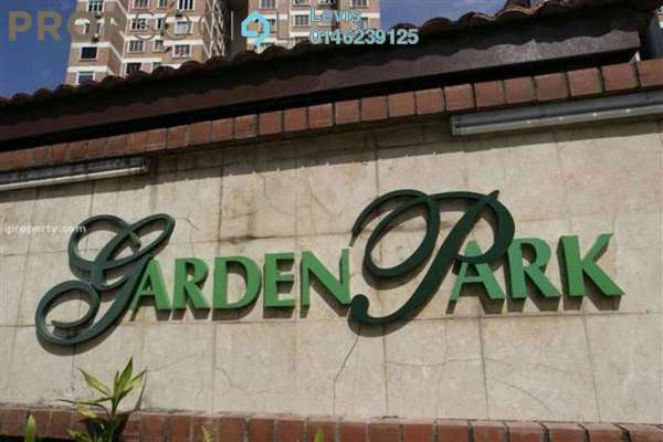 For Rent Condominium at Garden Park, Bandar Sungai Long Freehold Fully Furnished 3R/2B 1.1k