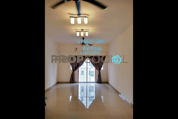For Sale Serviced Residence at The Wharf, Puchong Freehold Semi Furnished 3R/2B 528k