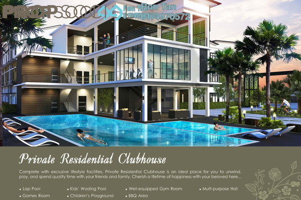 For Sale Condominium at ParkVille, Balik Pulau Freehold Unfurnished 3R/3B 590k