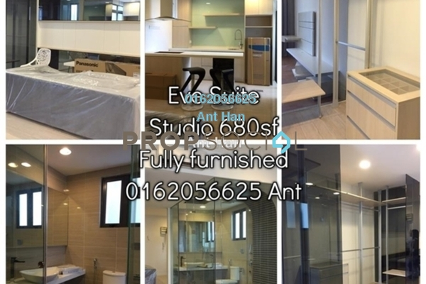 For Rent Serviced Residence at Eve Suite, Ara Damansara Freehold Semi Furnished 2R/2B 1.8k