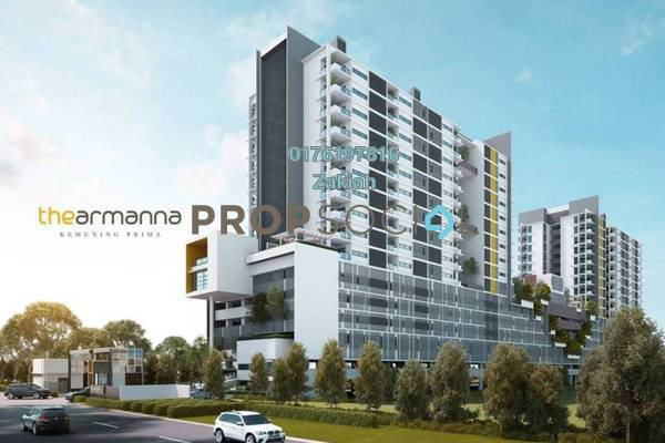 For Sale Condominium at The Armanna @ Kemuning Prima, Kemuning Utama Freehold Semi Furnished 3R/2B 549k
