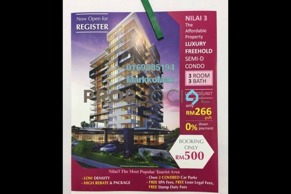 For Sale Condominium at Sentral Bazar, Nilai Freehold Semi Furnished 3R/3B 296k