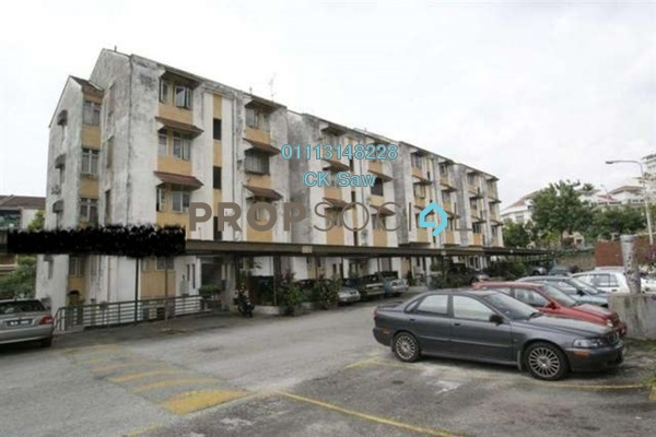 For Rent Condominium at Mahsuri Apartment, Setiawangsa Freehold Semi Furnished 3R/1B 1.2k