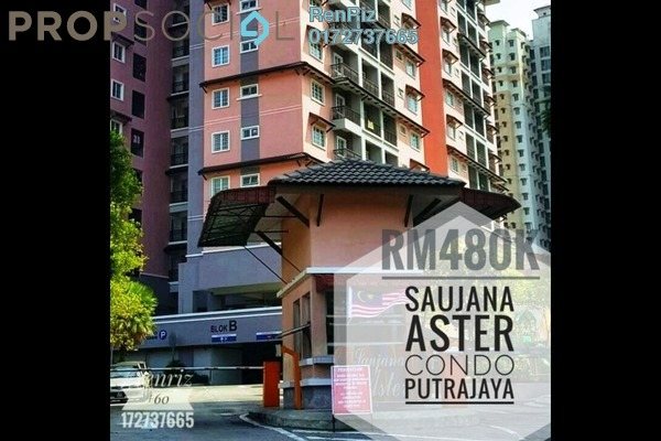 For Sale Condominium at Saujana Aster, Putrajaya Freehold Fully Furnished 3R/2B 480k