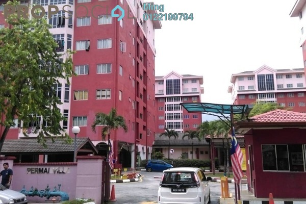 For Sale Apartment at Permai Villa, Puchong Freehold Semi Furnished 3R/2B 260k
