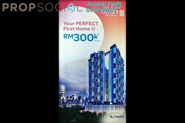 For Sale Condominium at SkyAwani 3 Residence, Setapak Leasehold Unfurnished 3R/2B 300k