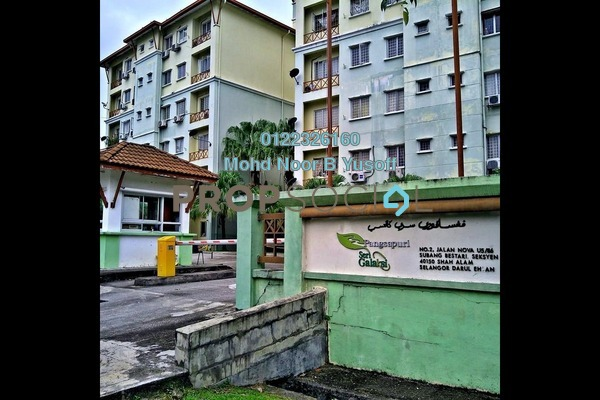 For Sale Apartment at Seri Galaksi Apartment, Subang Leasehold Unfurnished 3R/2B 310k
