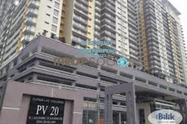 For Rent Condominium at Platinum Lake PV20, Setapak Freehold Semi Furnished 3R/2B 1.8k