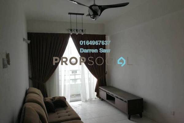For Rent Condominium at Pinang Laguna, Seberang Jaya Freehold Fully Furnished 3R/2B 1.2k