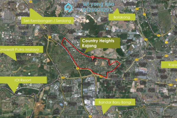 For Sale Land at Country Heights Kajang, Kajang Freehold Unfurnished 0R/0B 1.37m
