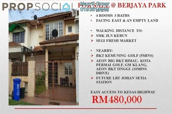 For Sale Terrace at Berjaya Park, Shah Alam Freehold Semi Furnished 4R/3B 480k